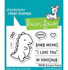 Lawn Fawn Clear Stamps 3X2 - Rawr