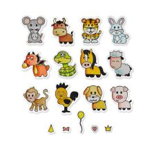 Sizzix Framelits Die Set 18PK w/Stamps - Zodiac Animals