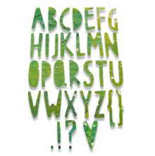 Sizzix Thinlits Die - Paper Cuts Alphabet