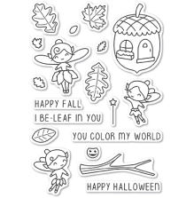 Poppystamps Clear Stamp - Autumn Fairies