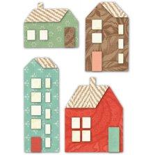 Memory Box Die - Mountain Village Houses Deep Edge