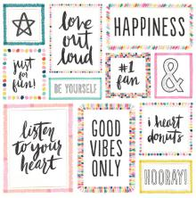 Crate Paper Good Vibes Foiled Cardstock 12X12 - Big Heart W/Champagne Gold
