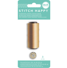 We R Memory Keepers Stitch Happy Metallic Thread - Gold