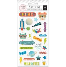 Pink Paislee Puffy Stickers - Wild Child Boy
