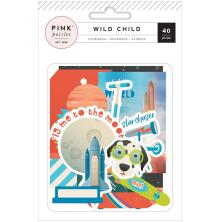 Pink Paislee Ephemera Cardstock Die-Cuts 40/Pkg - Wild Child Boy