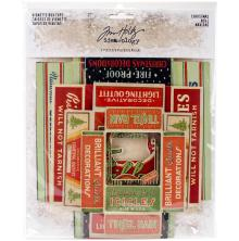 Tim Holtz Idea-Ology Vignette Box Tops 5/Pkg - Christmas