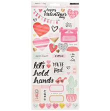 Crate Paper Stickers 6X12 2/Sheets - Heart Day
