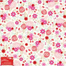 Pebbles Specialty Cardstock 12X12 - Forever My Always Roses