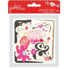 Pebbles Ephemera Cardstock Die-Cuts 40/pkg -  Forever My Always