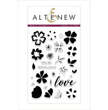 Altenew Clear Stamps 4X6 - Heart Flowers