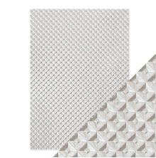 Tonic Studios Craft Perfect Handmade Papers - Silver Chequer