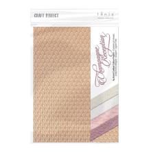 Tonic Studios Craft Perfect Handmade Papers 10/pkg - Champagne Reception