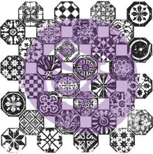 Prima Iron Orchid Designs Decor Clear Stamps 12X12 - Mosaico