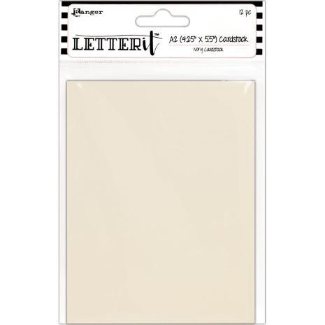 Ranger Letter It Cardstock 4.25X5.5 12/Pkg - Ivory