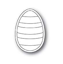 Poppystamps Die - Striped Egg