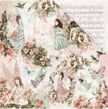 Kaisercraft Fairy Garden Double-Sided Cardstock 12X12 - Fairy Dance