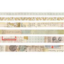 Tim Holtz Idea-Ology Design Tape 6/Pkg - Salvaged