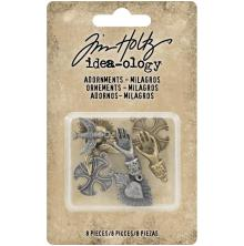 Tim Holtz Idea-Ology Metal Adornments 1in 8/Pkg - Milagros