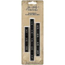 Tim Holtz Idea-Ology Metal Ruler Measurements 3/Pkg .5 High, Ass. Lengths