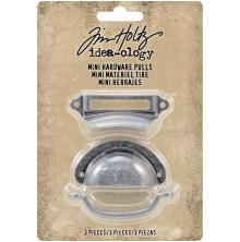 Tim Holtz Idea-Ology Mini Metal Hardware Pulls 3/Pkg Up To 2.25