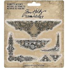 Tim Holtz Idea-Ology Metal Vignette Accents 6/Pkg