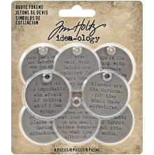 Tim Holtz Idea-Ology Metal Quote Tokens 8/Pkg