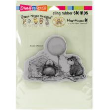 Stampendous House Mouse Cling Stamp 3.75x2.75 - Birthday Mischief