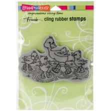 Stampendous Cling Stamp 4.5x5.25 - Puddle Ducks
