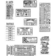 Tim Holtz Cling Stamps 7X8.5 - Ticket Booth