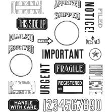 Tim Holtz Cling Stamps 7X8.5 - Mail Art