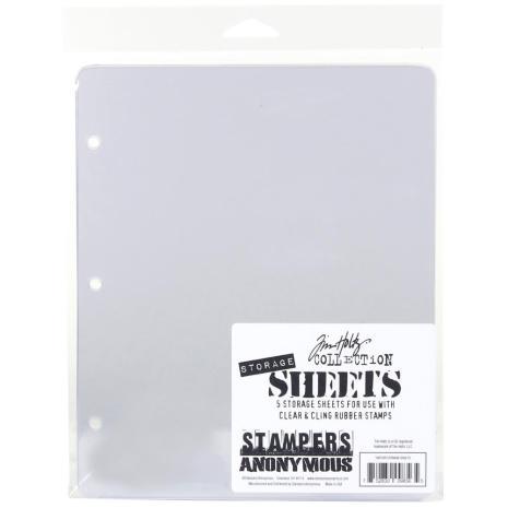 Tim Holtz Storage Sheets 5/Pkg 7X8.5