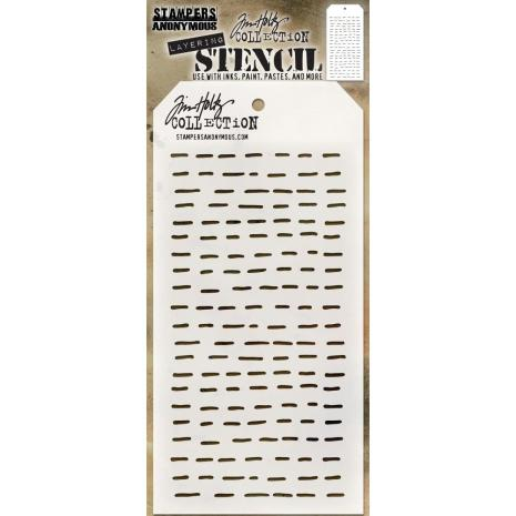 Tim Holtz Layered Stencil 4.125X8.5 - Dashes