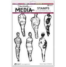 Dina Wakley Media Cling Stamps 6X9 - Abstract Figures