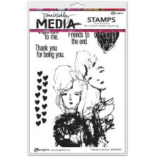 Dina Wakley Media Cling Stamps 6X9 - Friends To The End