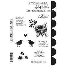 Wendy Vecchi Cling Stamps 6 1/2 x 8 3/4 - Art From The Nest