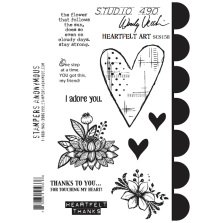 Wendy Vecchi Cling Stamps 6 1/2 x 8 3/4 - Heartfelt Art