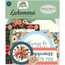 Carta Bella Flora No. 2 Ephemera Cardstock Die-Cuts 33/Pkg - Icons