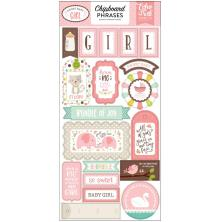 Echo Park Sweet Baby Girl Chipboard 6X13 - Phrases