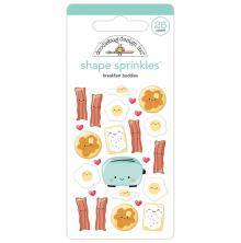 Doodlebug Sprinkles Adhesive Glossy Enamel Shapes - Breakfast Buddies