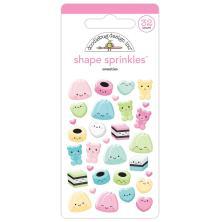 Doodlebug Sprinkles Adhesive Glossy Enamel Shapes - Sweeties