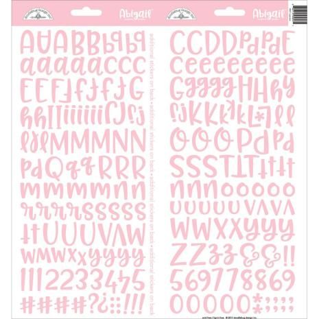 Doodlebug Abigail Cardstock Alpha Stickers 6X13 - Cupcake