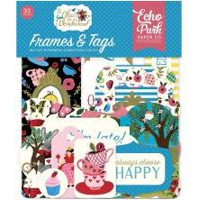 Echo Park Alice In Wonderland Cardstock Die-Cuts 33/Pkg - Frames & Tags