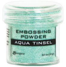 Ranger Embossing Powder 18gr - Aqua Tinsel