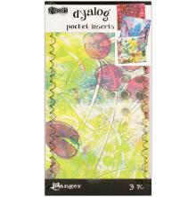 Dylusions Dyalog Printed Pocket Inserts 3/Pk