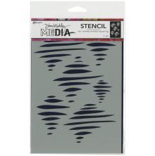Dina Wakley Media Stencils 9X6 - Tornado