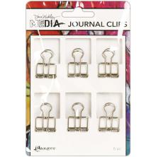 Dina Wakley Media Journal Clips 6/Pkg - Small