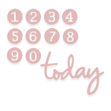 Sizzix Thinlits Die Set 11/Pkg - Dainty Birthday Numbers