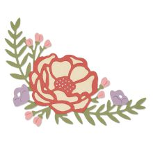 Sizzix Thinlits Die Set 2/Pkg - Pretty Peony