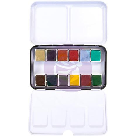 Prima Confections Watercolor Pans 12/Pkg - Woodlands