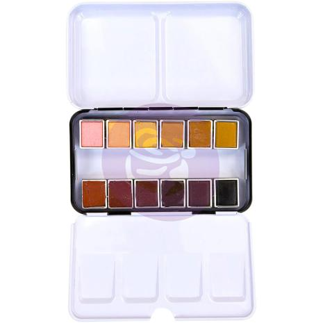 Prima Confections Watercolor Pans 12/Pkg - Complexion
